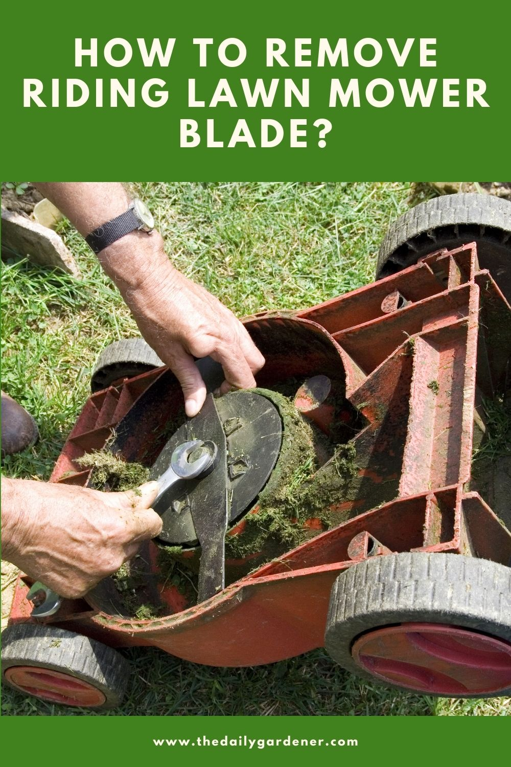 How to Remove Riding Lawn mower Blade 1