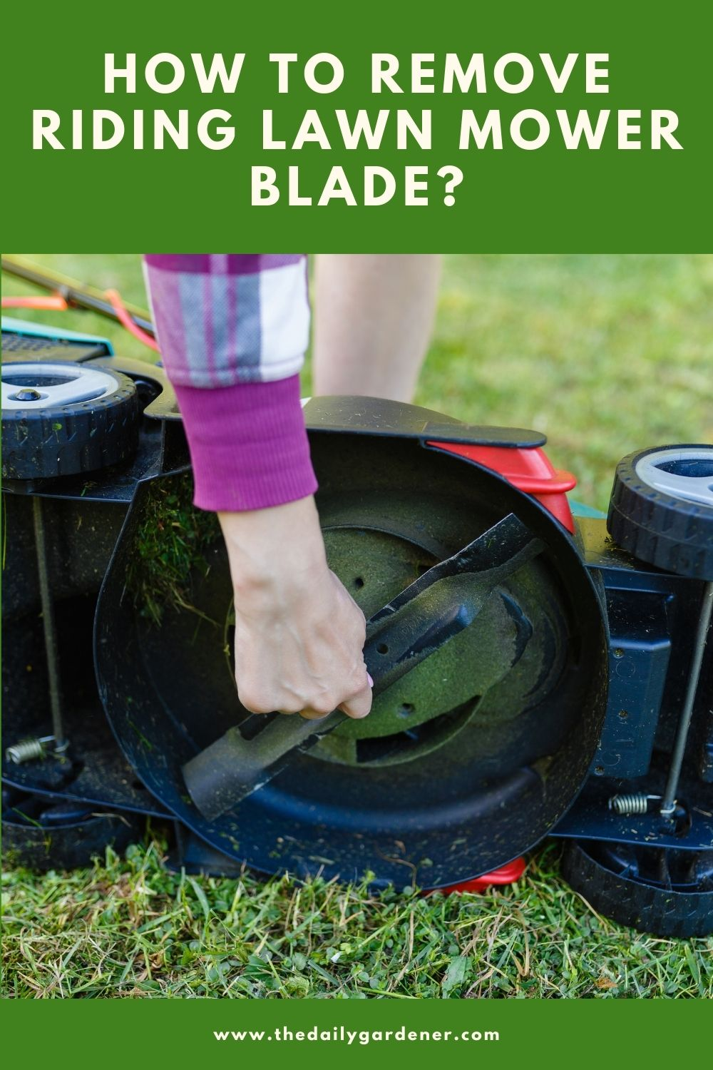 How to Remove Riding Lawn mower Blade 2