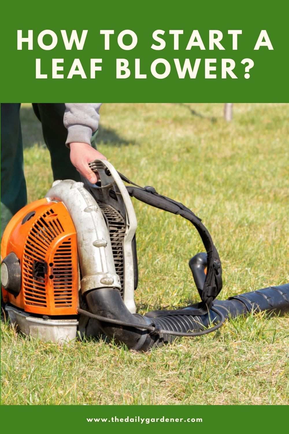 How to Start a Leaf Blower 3
