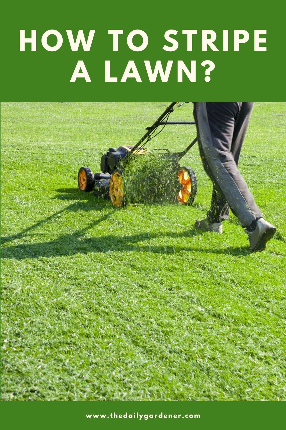 How to Stripe a Lawn 2