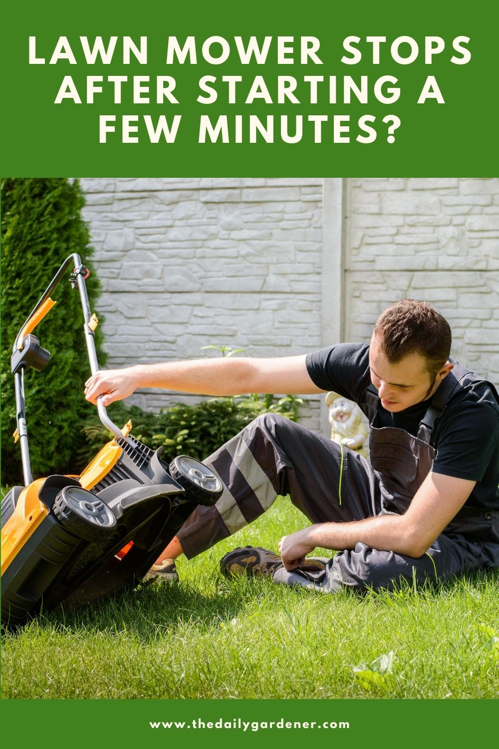 Lawn Mower Stops After Starting a Few Minutes 2