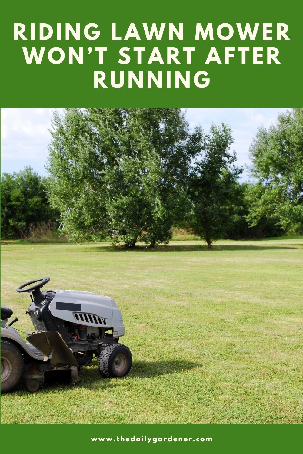 Riding Lawn Mower Won't Start After Running (How to Fix) 2