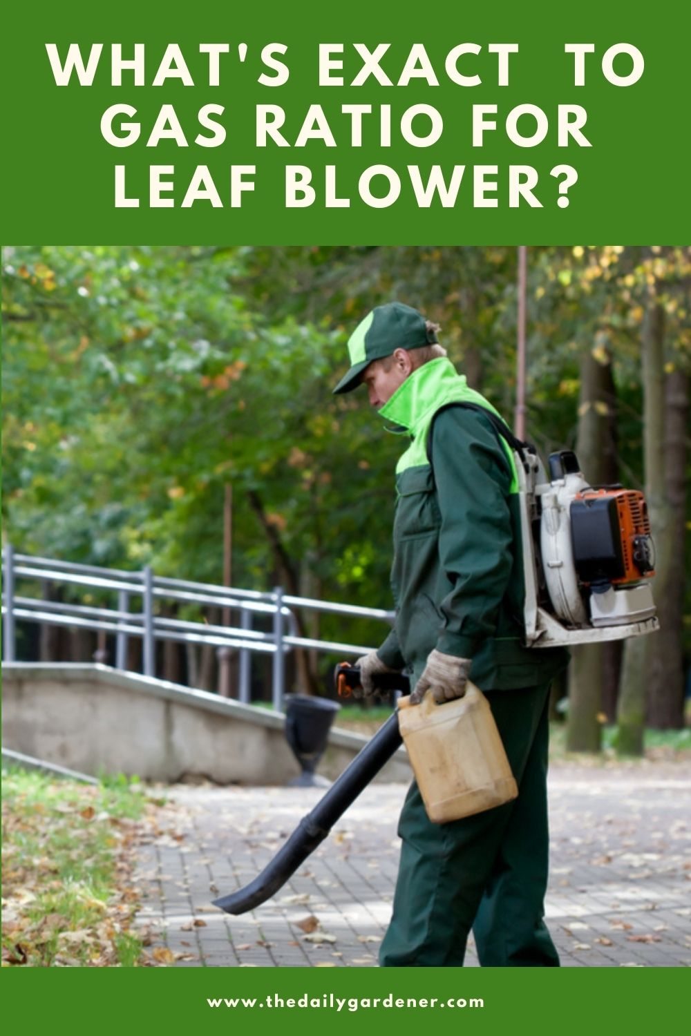 What's Exact to Gas Ratio for Leaf Blower 1