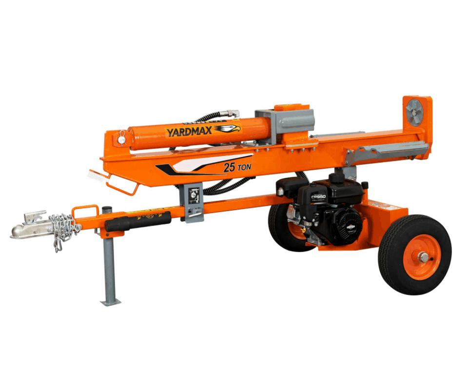 YARDMAX YU2566 4-Way Wedge Gas Log Splitter, 25 Ton