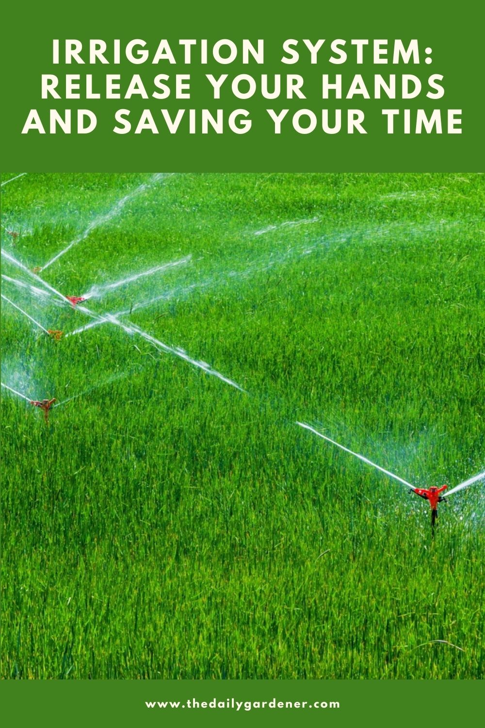 Irrigation System Release Your Hands and Saving Your time 2