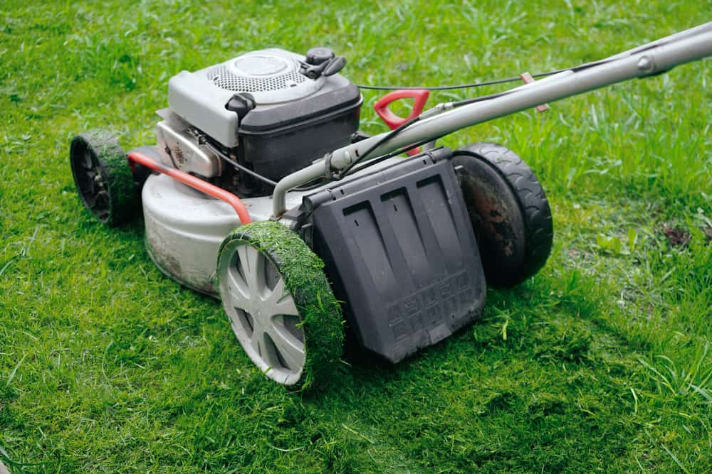 Mow slowly to avoid grass damage